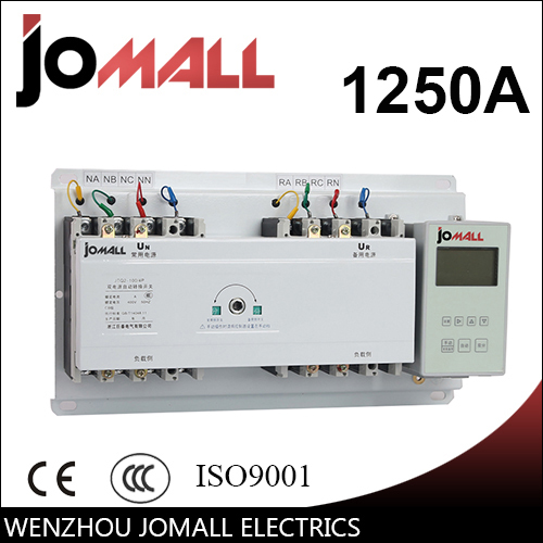 1250A 4 poles 3 phase automatic transfer switch ats with English controller цена