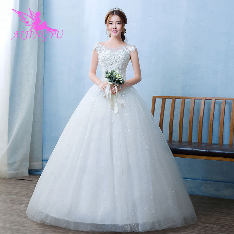 AIJINGYU 2018 Plus Size Free Shipping New Hot Selling Cheap Ball Gown Lace Up Back Formal Bride Dresses Wedding Dress WU110