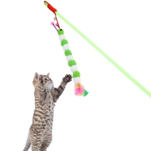Plush Cat Wand Toys Funny Teaser Exerciser Feather Toys For Cat Kitten Interactive Toy Fishing Stick With Bell Cat Supplies цена