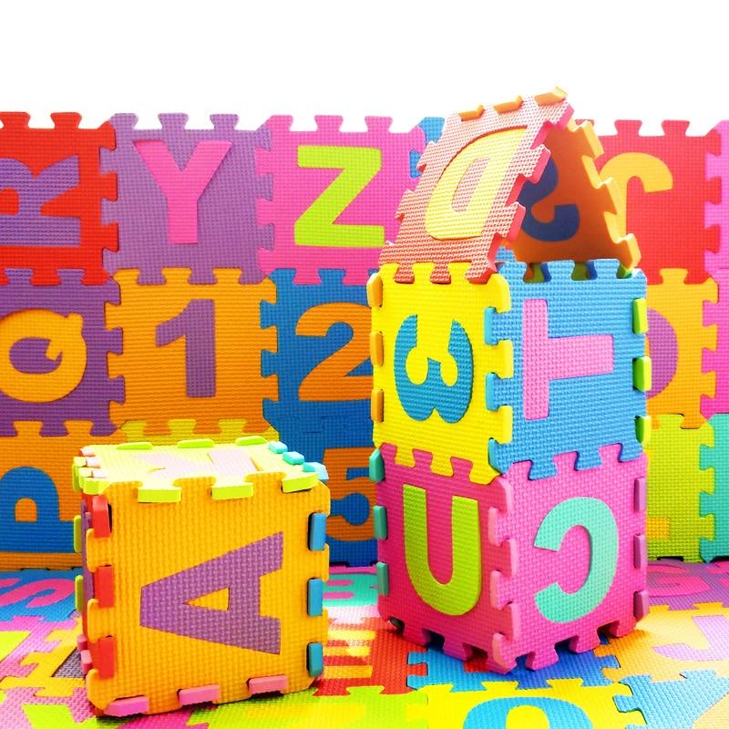36pcs/set Children Puzzle Play Mat Baby EVA Foam Kids Rug Carpet Playmat Educational Toys for Infant Boys Girls 15.5x15.5x0.9cm dayan gem vi cube speed puzzle magic cubes educational game toys gift for children kids grownups