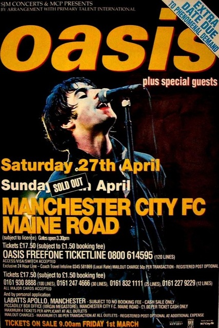 Vintage Oasis Rock Music Concert Ad Retro Poster Canvas Painting DIY ...