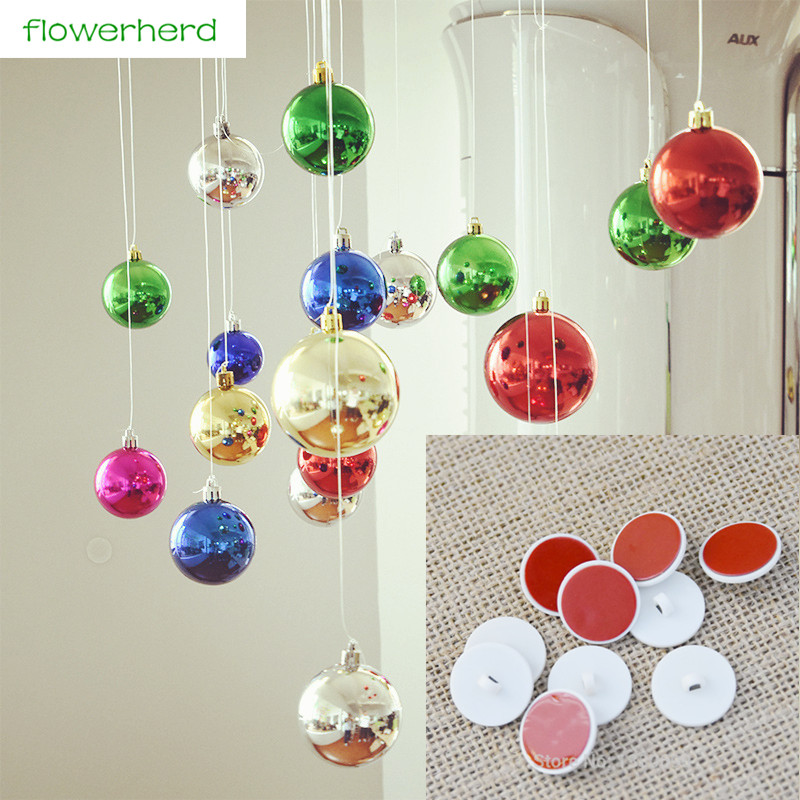 10/20pcs Christmas Ball Hanging Tool Ceiling Stick Hook