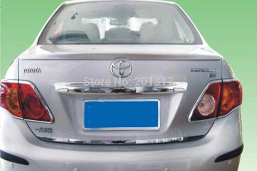 ФОТО For Toyot Corolla ABS unpainted rear lip Spoiler, rear trunk spoiler wing (for Toyot Corolla 06-13)