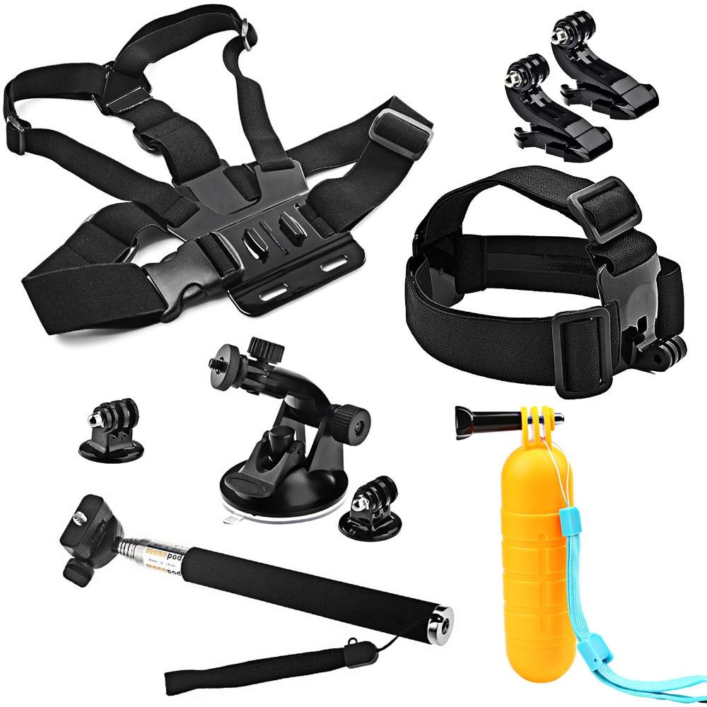 SHOOT Action Camera Accessory Set for GoPro Hero 6 5 4 3 Xiaomi Yi 4K Eken Head Chest Strap for SOOCOO C30 H9 SJCAM SJ4000 m20 shoot action camera accessories set for gopro hero 5 6 3 4 xiaomi yi 4k sjcam sj4000 h9 chest strap base mount go pro helmet kit