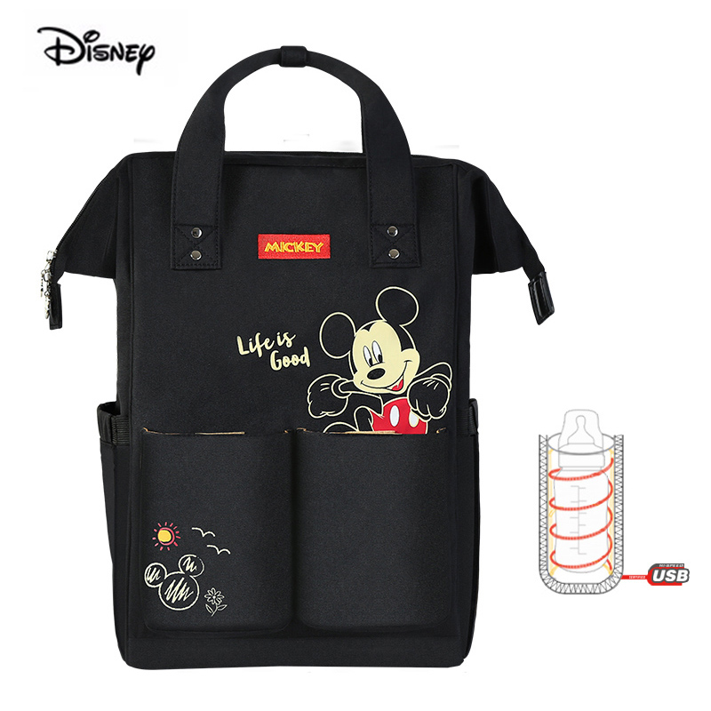 Disney Multifunction Large Capacity Nappy Diaper Backpack Minnie Mickey Mouse Baby Mother Bag Maternity Bag Classic Pocket
