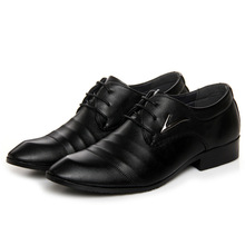 Big size Metal decoration classic male Footwear black White dress leather shoes men office Social elegant Pointed shoes