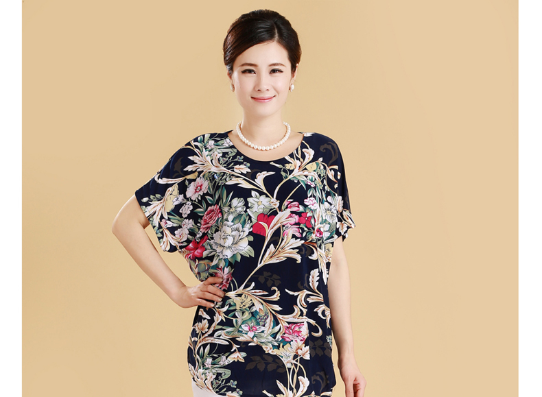 HTB1lY0gq4SYBuNjSsphq6zGvVXaR XL 5XL Women Summer Style Casual Blouses Flor Clothing Plus Size Short Sleeve Floral Blusas Shirt Women's Tops Russia 56