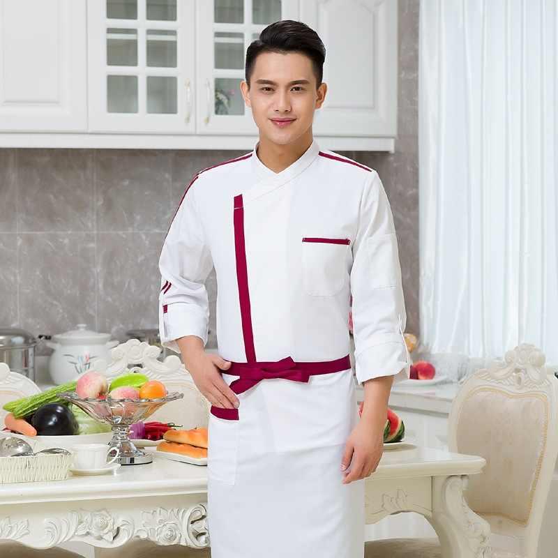 Nueva llegada chaqueta de Chef de Hotel de manga larga para adultos uniformes de Chef Otoño e Invierno ropa de repostería de Hotel B-5926