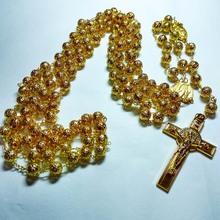 8 мм металлическое свадебное ожерелье драгоценное свадебное ожерелье Христианский католический крест