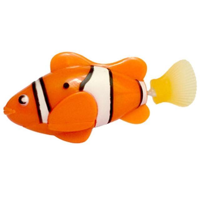 Aquarium Ornaments Decorations  5 color funny Robo Fish Toy Robofish Activated Battery Powered Fish Robotic Fish Tank