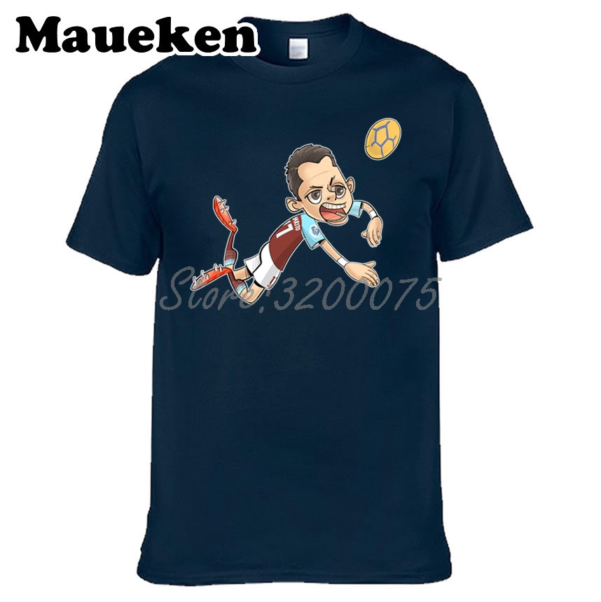 sports shoes 4bc59 93055 US $18.88 |Men T shirt Mexico The thigh 14 Javier Hernandez Chicharito  Clothes T Shirt Men's for fans gift o neck tee W17062501-in T-Shirts from  Men's ...