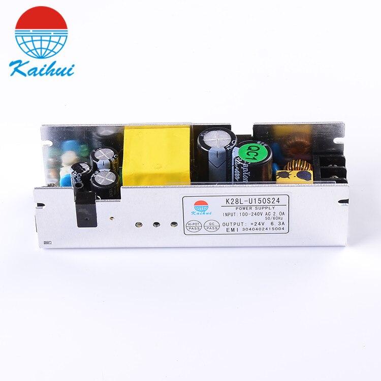 Одинарный выход 24 В 150 Вт, светодиодный импульсный источник питания с открытой рамкой, светодиодный драйвер с сертификацией EMI