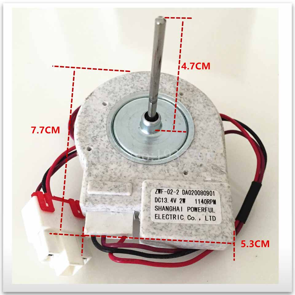 1pcs For Refrigerator Freezer Double Open The Door Fan Motor For ZWF-02-2 12v Good Working