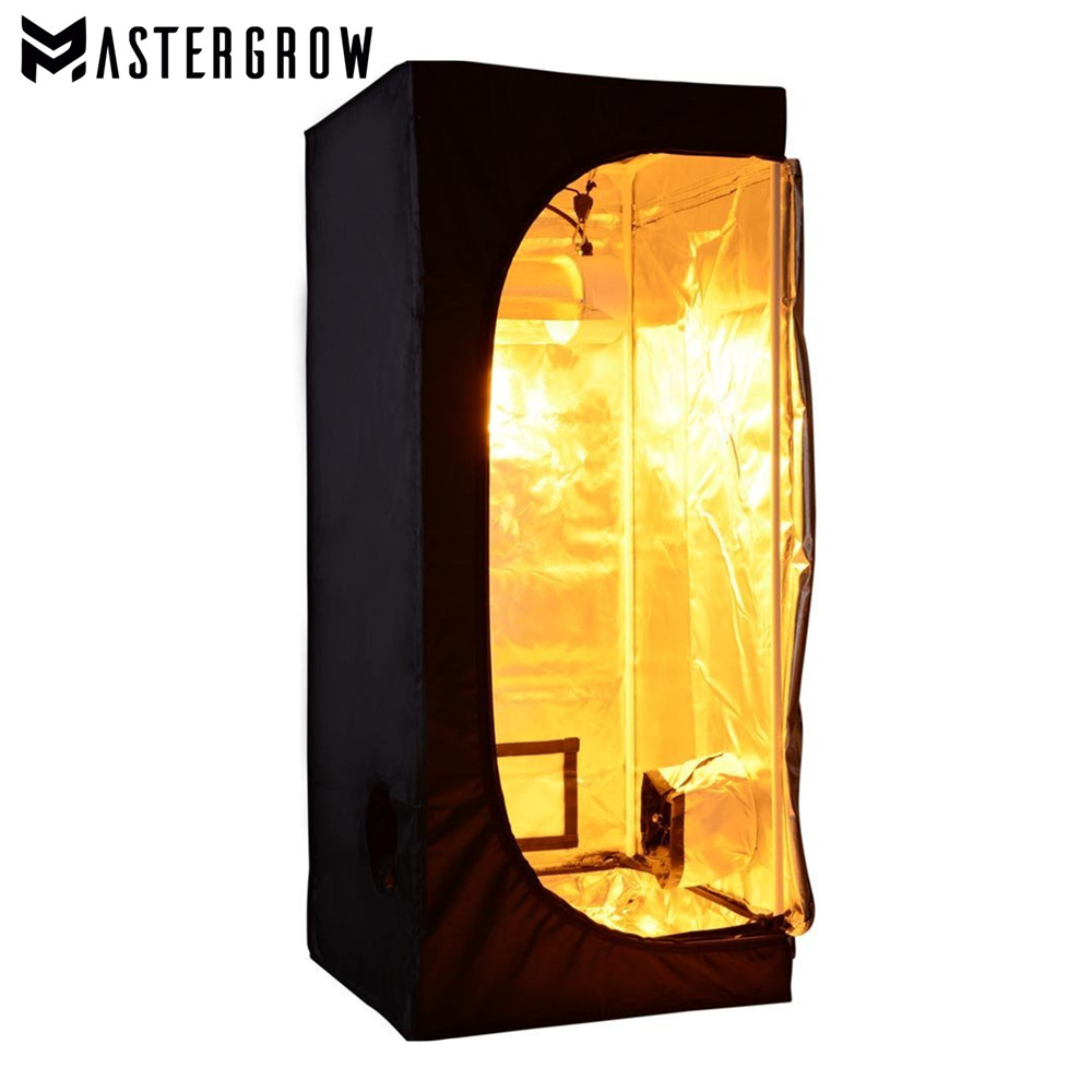 MasterGrow 60X60X140cm Indoor Hydroponics <font><b>Grow</b></font> <font><b>Tent</b></font>, <font><b>Grow</b></font> Room Plant Growing, Reflective Mylar Non Toxic Garden Greenhouses image