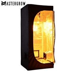 MasterGrow 60X60X140cm kryty namiot do uprawy hydroponicznej  pomieszczenie do uprawy roślin  odblaskowe Mylar nietoksyczny ogród szklarnie w Lampy LED do hodowania roślin od Lampy i oświetlenie na
