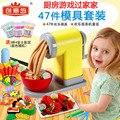 Nueva Llegada 47 UNIDS cabaña Para Niños juguetes de cocina, juguetes juegos para niños y niñas de regalo paquete de simulación de Juguetes rompecabezas de montaje del molde