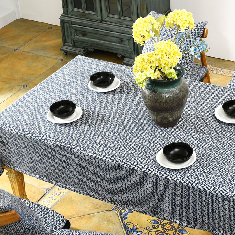 New Traditional Chinese Printed Home Table Cloth Living Room Western Restaurant Tablecloth Rond