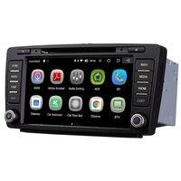 Android 8.0 8 inch Touch Screen GPS Navigation Multimedia radio DVD Player WiFi For Skoda Octavia 2007 2014 Skoda Yeti 2013 2016