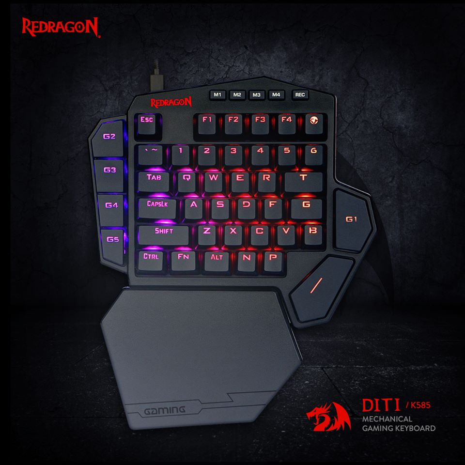 K585 DITI One-Handed RGB Gaming Keyboard 42 Keys Blue Switch LED