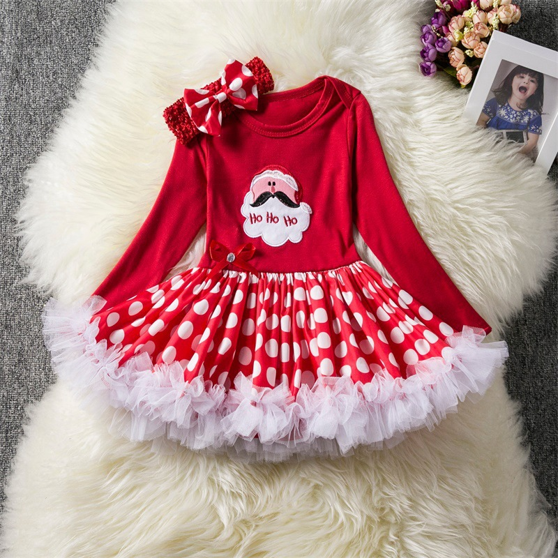 baby girl Princess Dress for Wedding party Kids Dresses for Toddler Girl Santa Claus Children Fashion Christmas Clothing