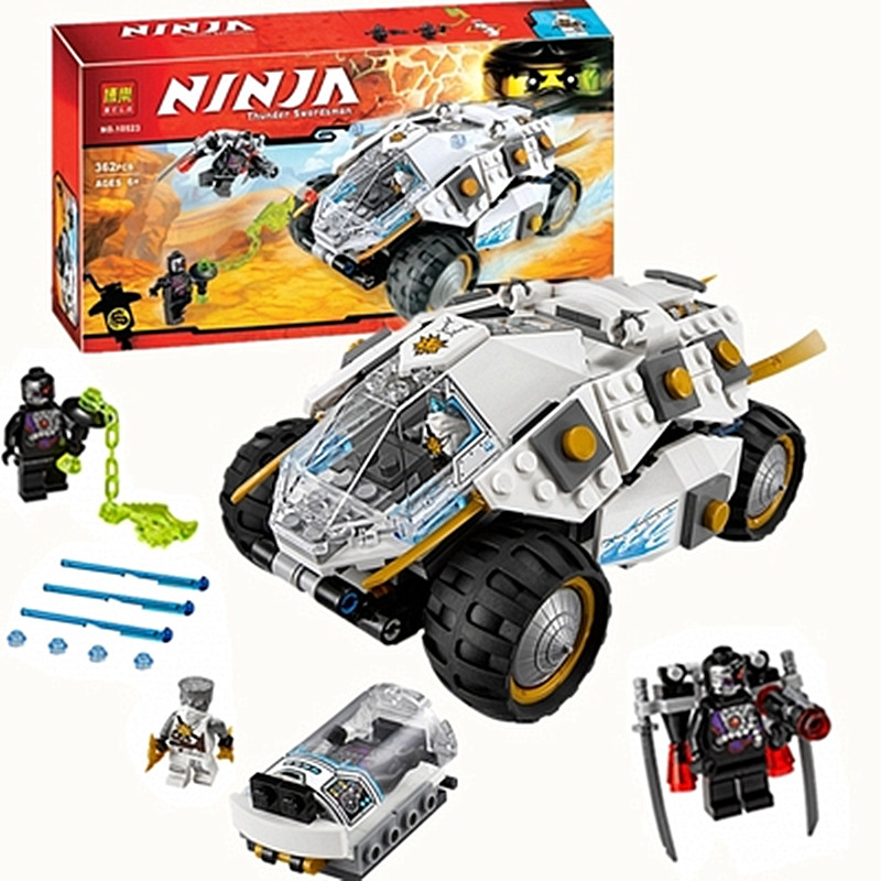 Future Knights Ninja thunder swordsman chariot Building Blocks figure toys Compatible with Famous legoelieds for kids gifts