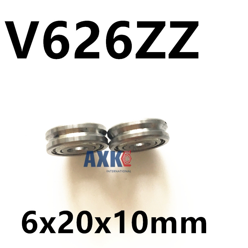 Free shipping 10pcs V626ZZ V62010 V groove ball bearing 6x20x10mm pulley bearing Triangular groove bearing for spring machine free shipping 2pcs v625 90 v625zz v groove deep groove ball bearing 5x16x5mm pulley bearing