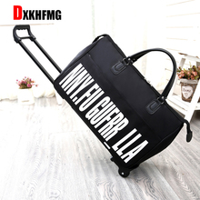 2018 New Hot Fashion Women's Trolley Luggage Suitcase Brand Casual Roll Folding Boarding Suitcase Travel Bag Wheeled Luggage carrylove business travel bag 18 size boarding high quality nylon luggage spinner brand travel suitcase