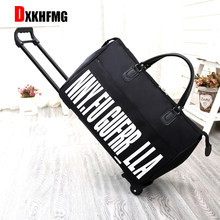 2018 New Hot Fashion Women's Trolley Luggage Suitcase Brand Casual Roll Folding Boarding Suitcase Travel Bag Wheeled Luggage(China)