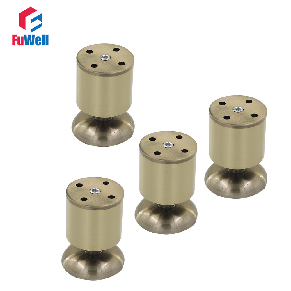 4pcs 80mm Height Adjustable Furniture Legs Aluminum Alloy 50mm Diameter Table Cabinet Bed Sofa Leveling Feet bqlzr 4pcs 120x85mm round silver black adjustable stainless steel plastic furniture legs sofa bed cupboard cabinet table feet