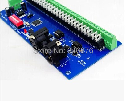 ФОТО Free Shipping 27 channel Easy DMX RGB LED controller;27channel DMX512 decoder& driver, Newest , Wholesale