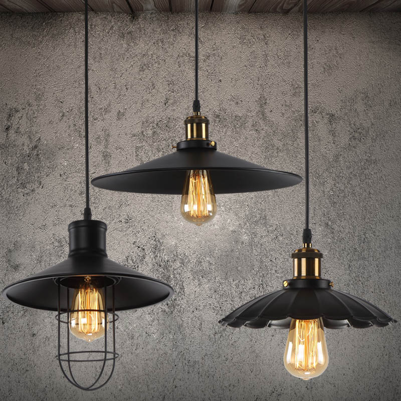 ФОТО Loft Vintage LED pendant light with 6w E27 LED lamp warehouse creative light for Restaurant Bar living with free shipping