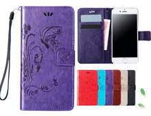 for vertex impress luck Case butterfly flower Leather Flip Wallet Cover For vertex impress saturn event groove lion 3g 4g(China)