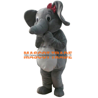 Professional New Elephant Mascot Costume Cartoon Suit for Halloween party event