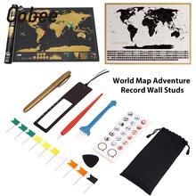 DIY 8 шт./пакет царапин ручка набор маркеров наклейки инструмент царапин комплект детской одежды Детский подарок настенные мира Карты Приключения игрушек