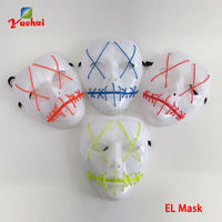 DC 3V Fashio 10 Colors Available LED Mask Cartoon Movie Party Mask And Cross Eye Mask