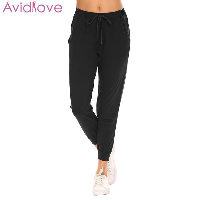 ba0372558db Avidlove Women Night Pants Cotton Solid Home Pants Large Size Comfort Sleep  Pocket Pajama Spring Autumn Women Pajama Pant