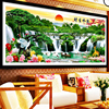 New Landscape Painting Diamond Drawing Full China Welcome Song Diamond Embroidery Cross Stitch Rhinestone Cube Drill