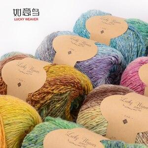 Бесплатная доставка 600 г (100 г * 6 шт.) шелковое хлопковое цветное Окрашивание шерсти для детей грубое ручное вязание шарф шаль крючком шапки