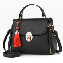 Women Handbag Leather Bag Messenger Shoulder Crossbody Luxury Handbags Designer Pendant Tassel Flap