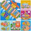 6 diseños / juego de los cabritos EVA mosaico pegatinas rompecabezas arte animales de granja de transporte de flores de coches niños juguete educativo