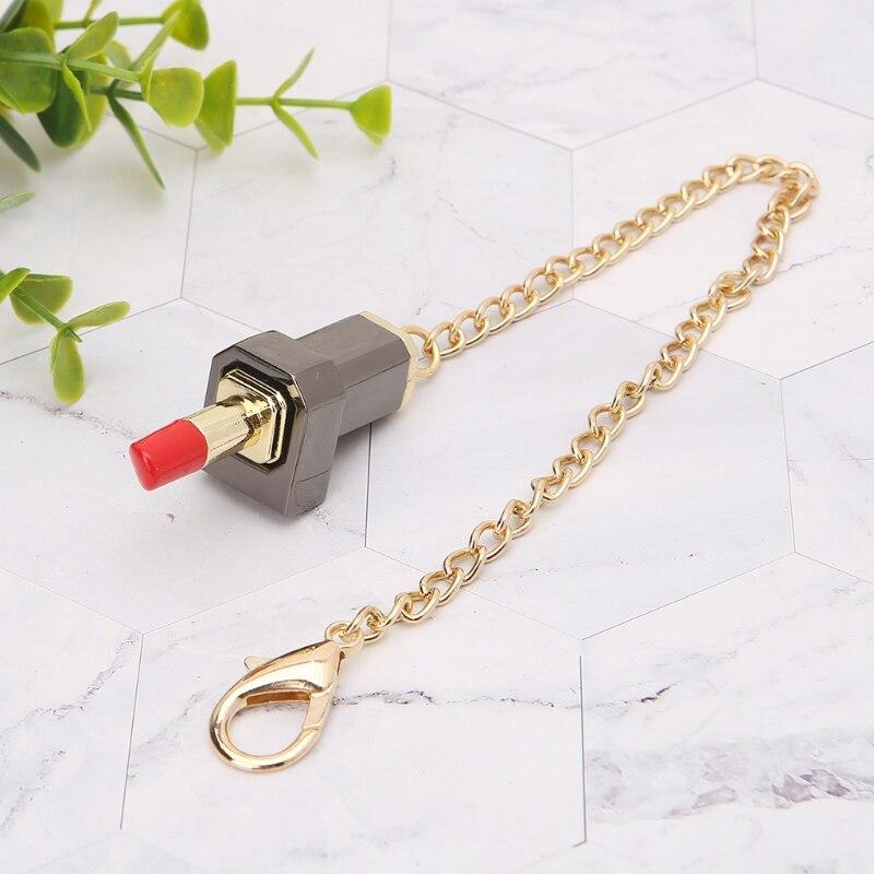 1pc 1.97x0.98x0.39'' Fashion Lipstick Shape Clasp Lock DIY Messenger Handbag Shoulder Bag Hardware