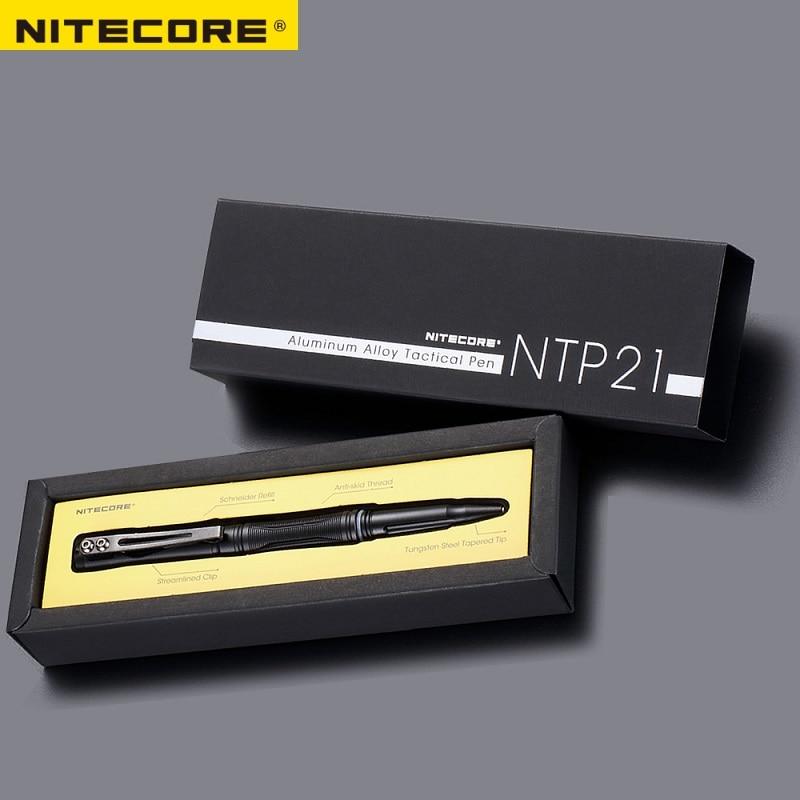 1 PC miglior prezzo NITECORE NTP21 in lega di alluminio tattile di auto-difesa della piuma1 PC miglior prezzo NITECORE NTP21 in lega di alluminio tattile di auto-difesa della piuma