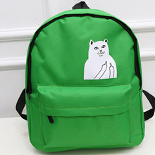 2016 New Japanese Cat School Canvas Backpack For Women Teenage Girl Couple Cartoon College Wind Mochila Escolar Women Backpack
