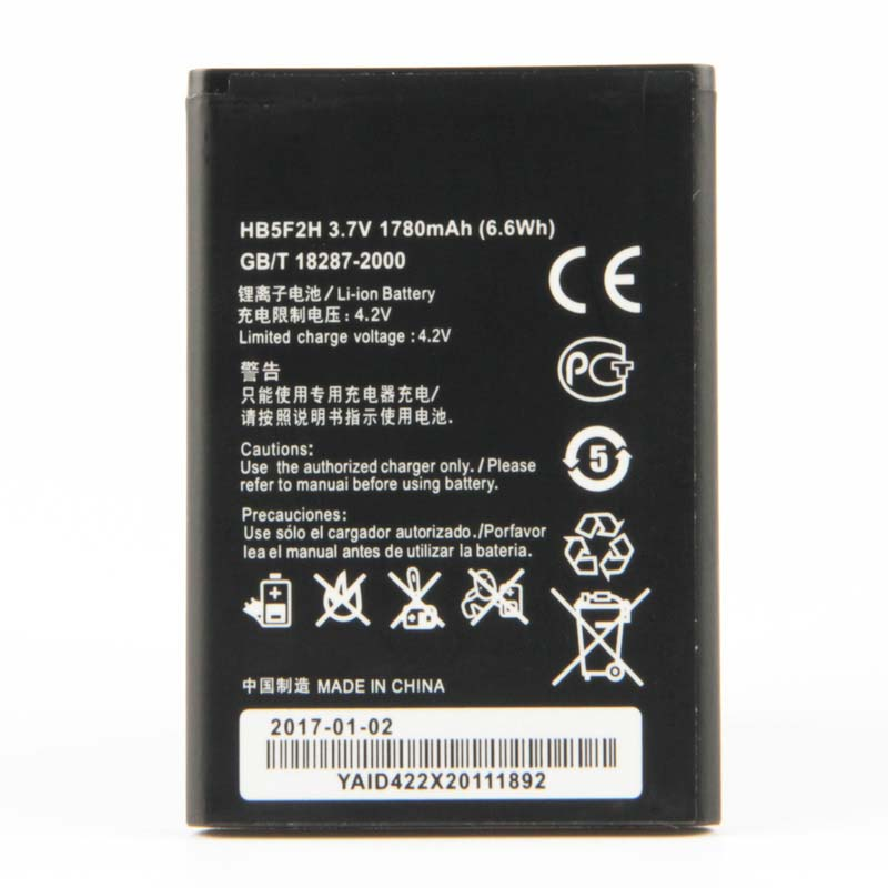 Original HB5F2H Rechargeable Li ion phone battery For Huawei E5373 E5330 4G Lte E5336 E5375 EC5377 1780mAh in Mobile Phone Batteries from Cellphones Telecommunications