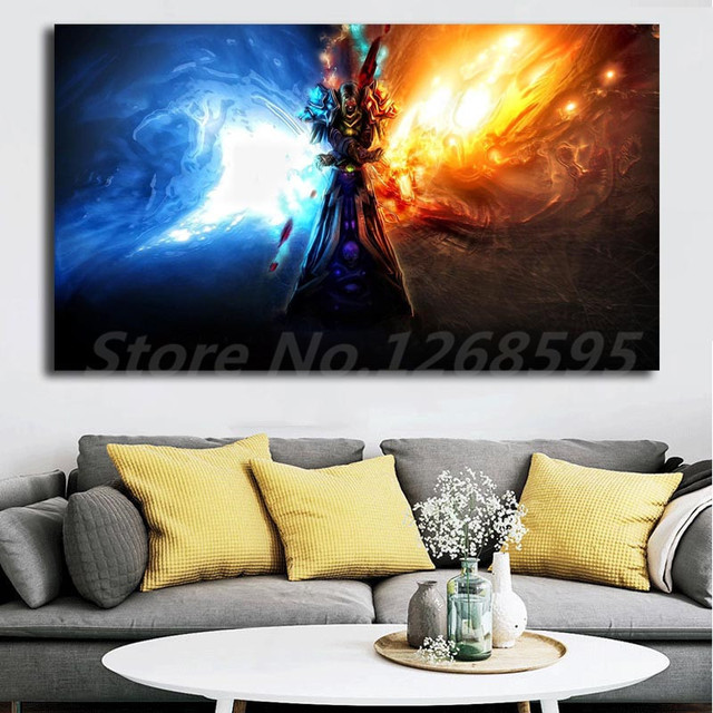 World Of Warcrafts Wallpaper Frost Mage Canvas Painting Print Living Room Home Decor Artwork Modern Wall