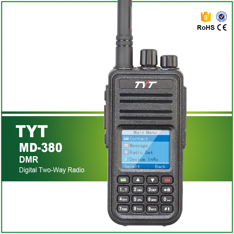 Brand New Original TYT MD-380 UHF 400-480MHZ Analog/Digital DMR Radio With Cable And Software