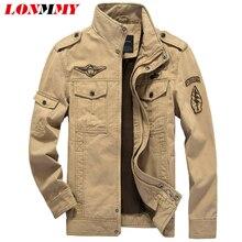 LONMMY winter 2016 bomberjacke männer Military Marke Jacking mann winterjacken Mens mäntel Armee Jacken herren mantel Baumwolle M-6XL
