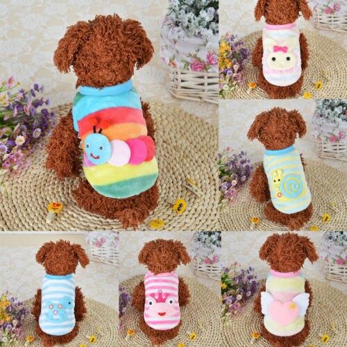 Cartoon Dier Huisdier Trui Kleine Hond Vest Winter Mode Puppy Kostuum Kleding Ademend Mesh Vest Huisdier Kat Appare