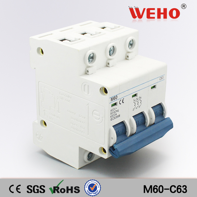 M60 C63 China Online Selling Cheap Price 63A Mcb 3 Phase Mini ...