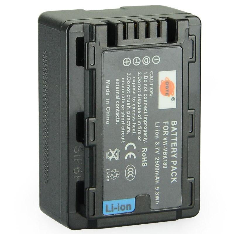 DSTE VW-VBK180 Rechargeable Battery For Panasonic HC-V700MGK HC-V10GK HC-V100GK HC-V100MGK HC-V500GK HC-V500MGK Camera